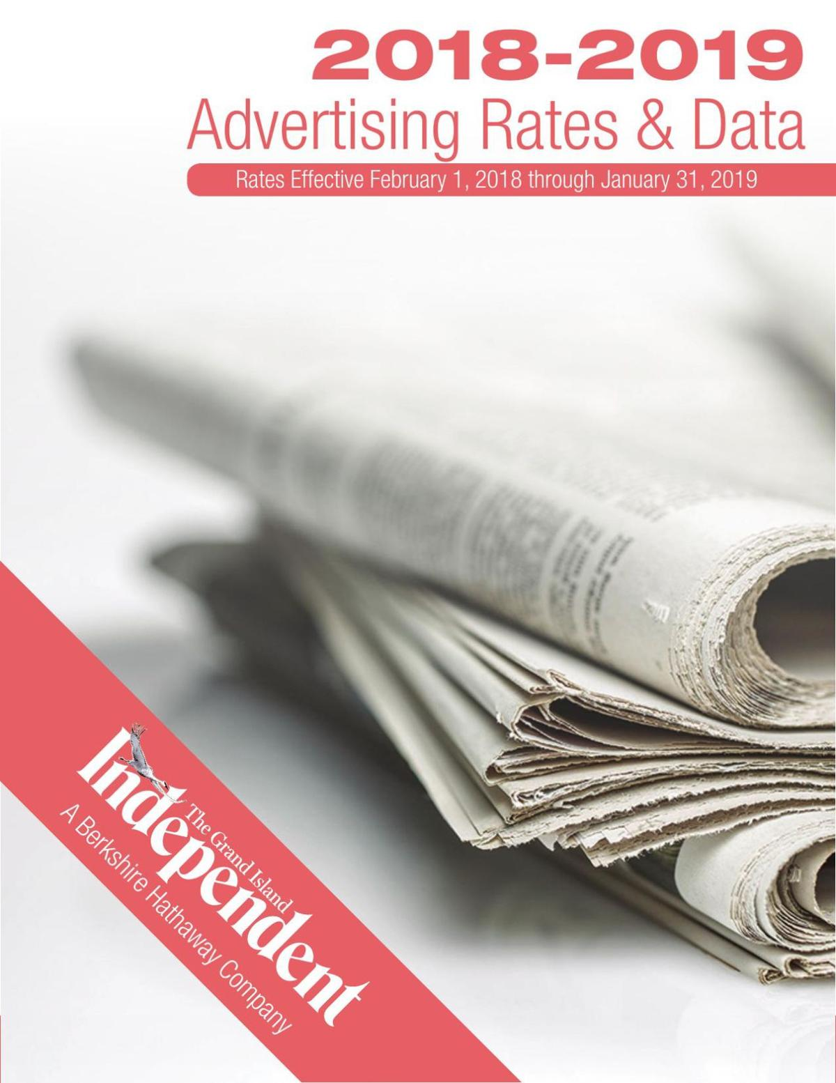 2018-2019 Independent Advertising Rates & Data