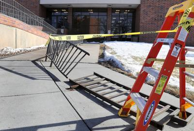 Accident causes damage to railing at Hall County Administration