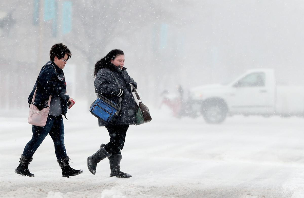 Blizzard conditions in Grand Island