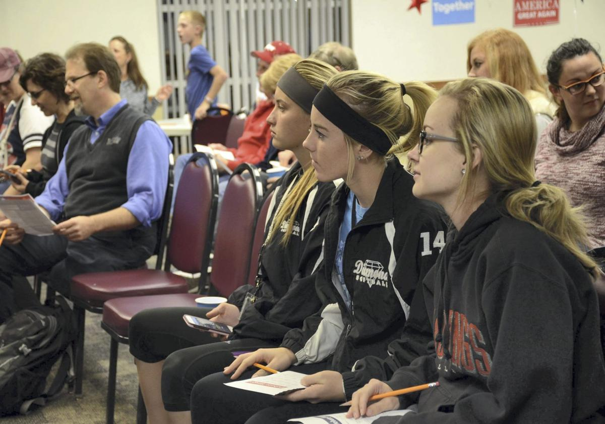 Hastings college students divided on candidates hastings hastings college students rachel beed right alyssa carter and ashlynn clifford get ready to listen to the final debate between hillary clinton and donald publicscrutiny Image collections