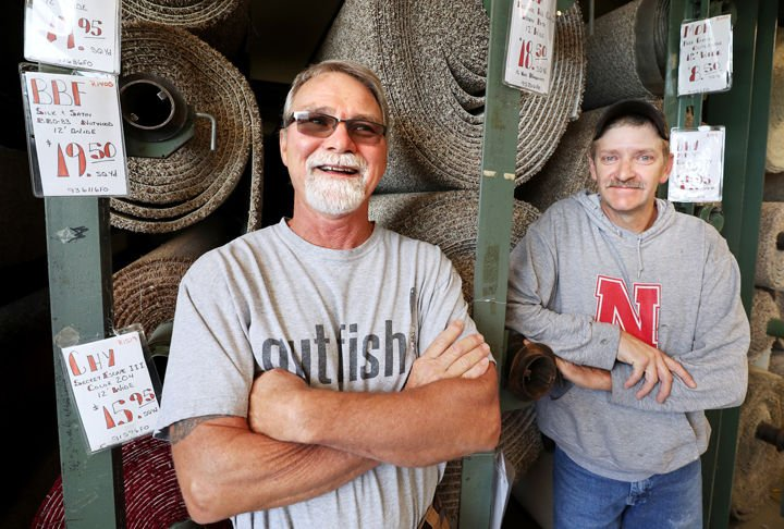 Beau Longtime Carpet Layers Mike Armstrong (left) And Dave Hedglin Stand  Together At Nelsonu0027s Furniture In Grand Island. The Two Men Travel All  Around The Area ...