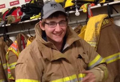 Volunteer firefighter Anthony Dush