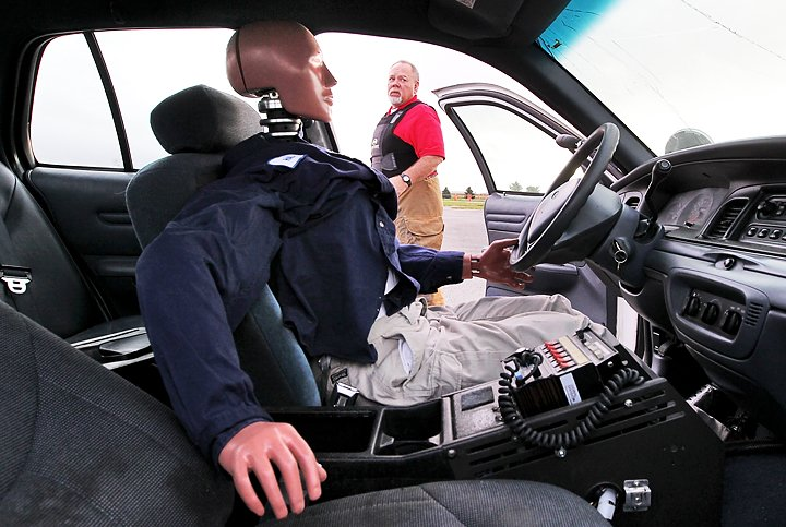 Car Being Occupied By Crash Test Dummy Hal Left Before Driving Another Into It During Controlled Crashes Thursday Morning On The Nebraska Law
