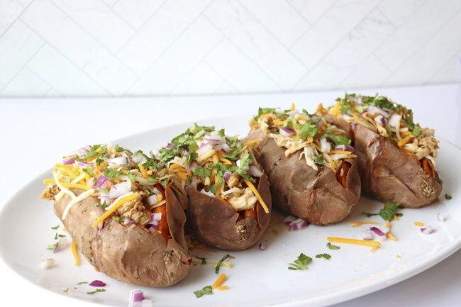 Barbecue Chicken-Stuffed Sweet Potatoes