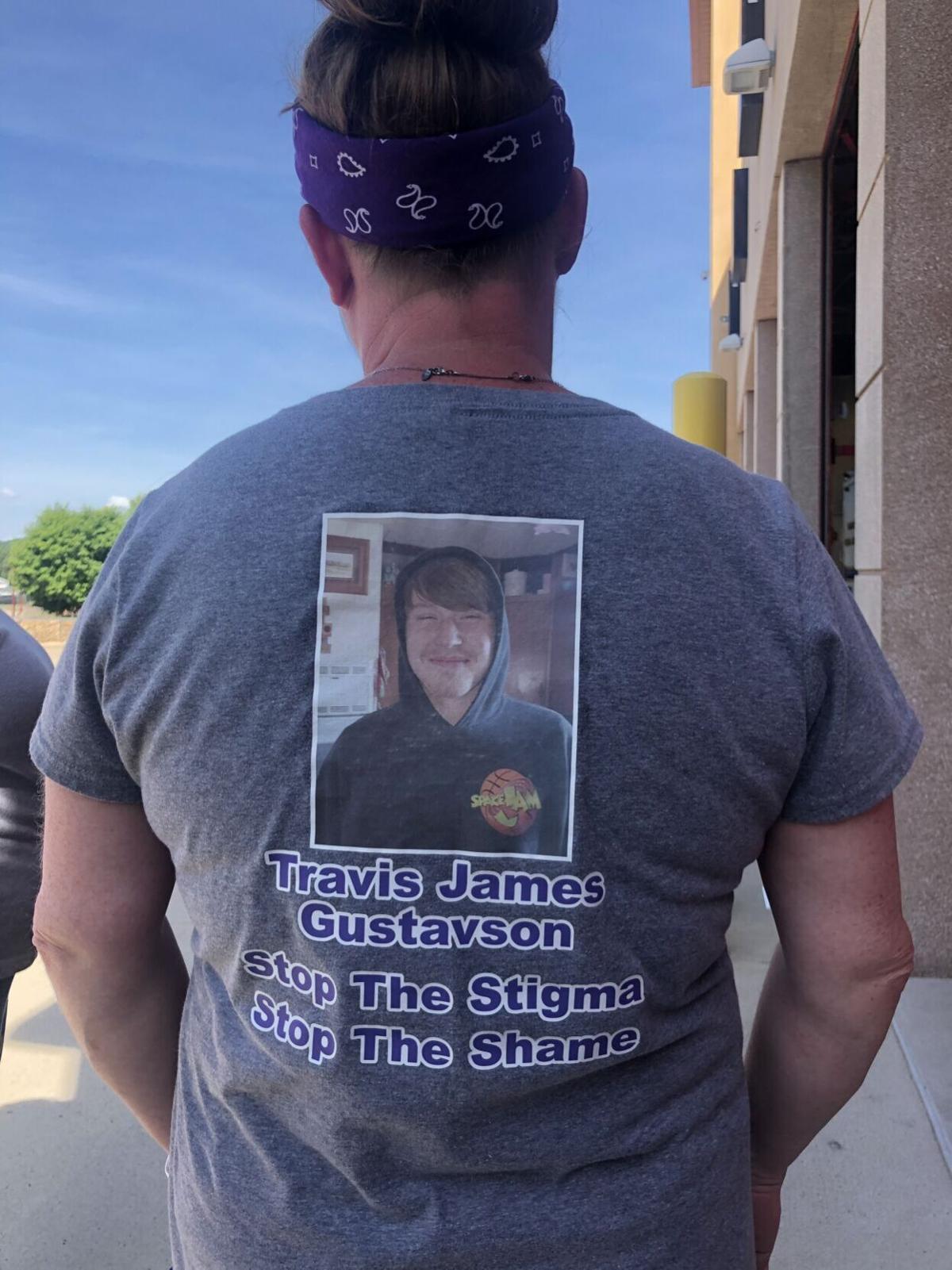 Travis Gustavson memorial shirt