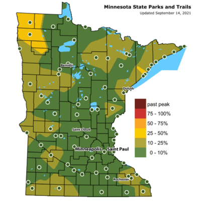 DNR fall colors map