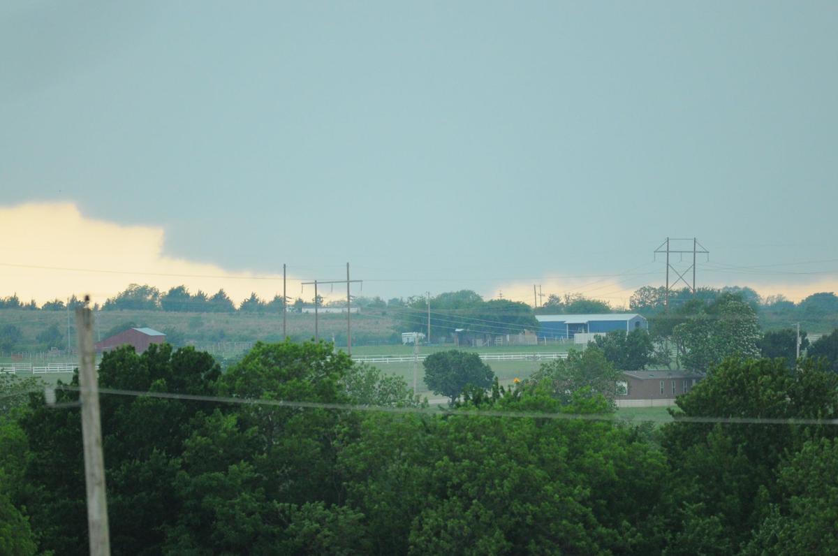 Large tornado north of Sulphur