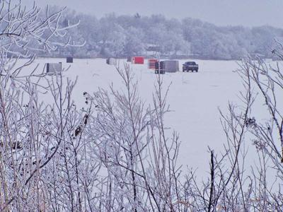 backroads ice fishing village