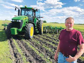 Dennis Lutteke and tractor