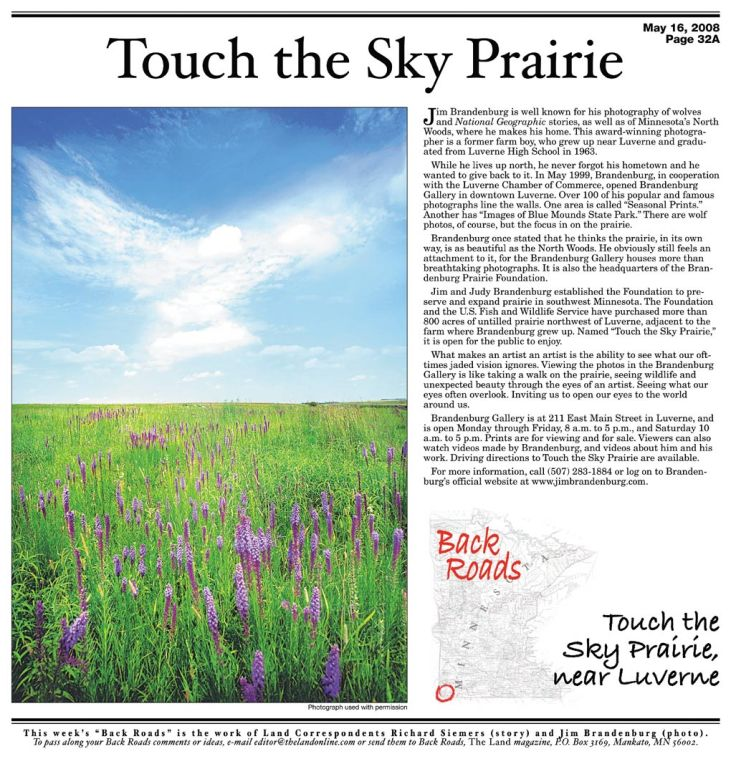 Back Roads: Touch the Sky Prairie
