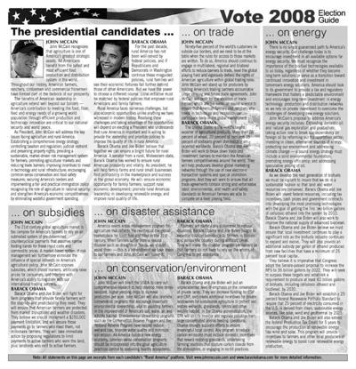 Vote 2008 Presidential Election Guide