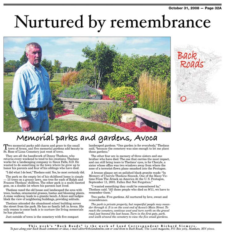 Back Roads: Nurtured by remembrance