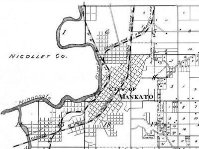 Mankato map, 1895