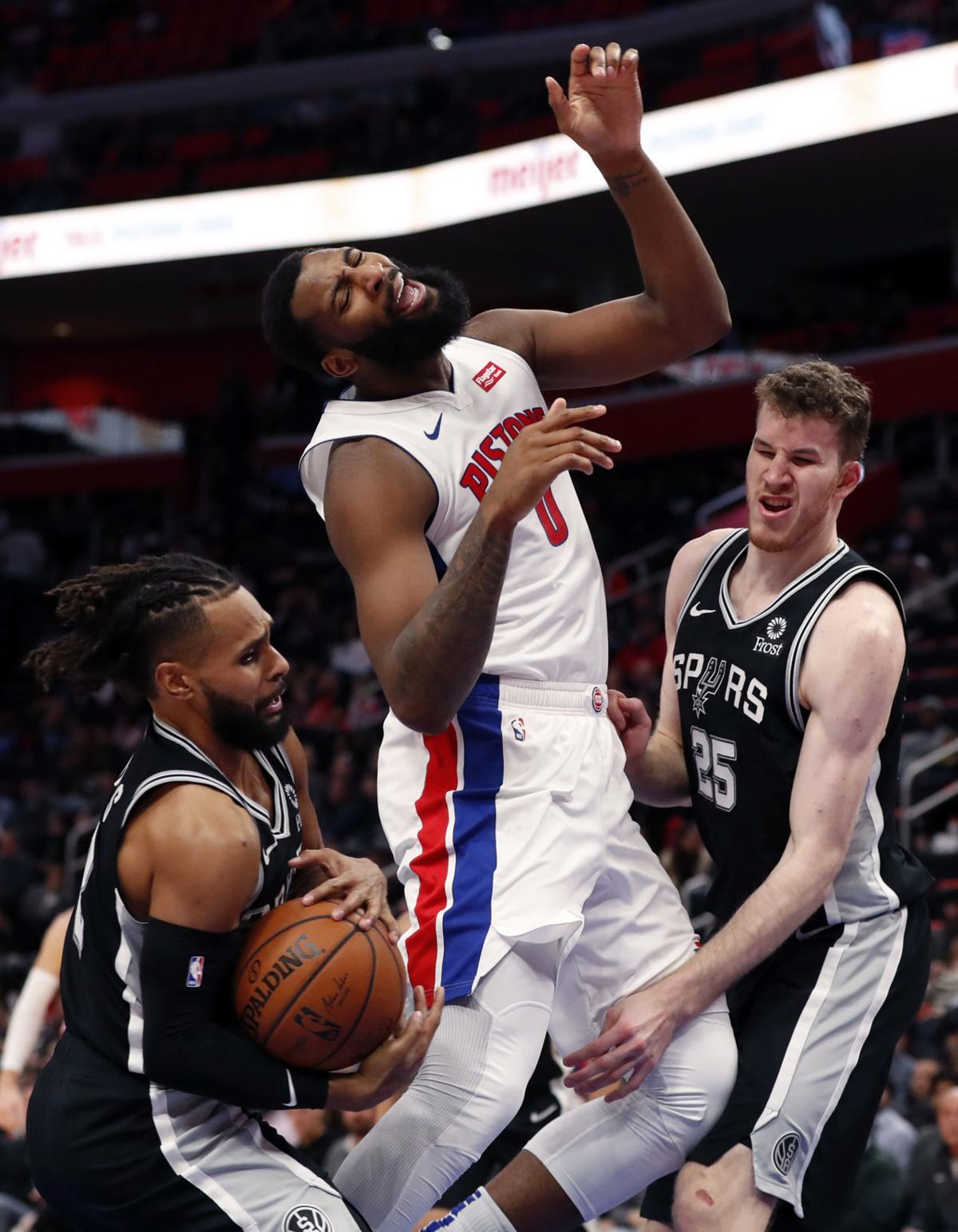 APTOPIX Spurs Pistons Basketball