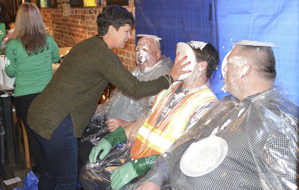A pie in the face for charity