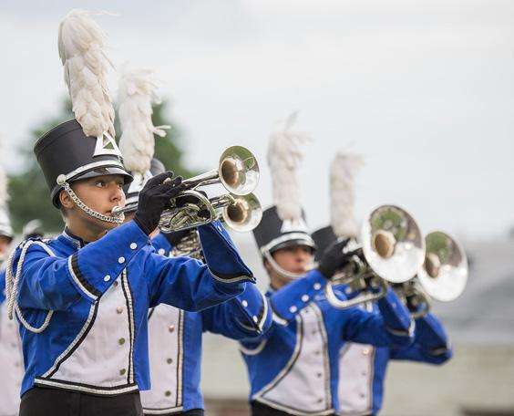 International pageantry: 12 teams compete for DCI Open Class championship tonight