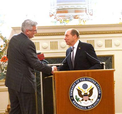 Gov. Holcomb, delegation promote Ind. in Belgian, EU, NATO