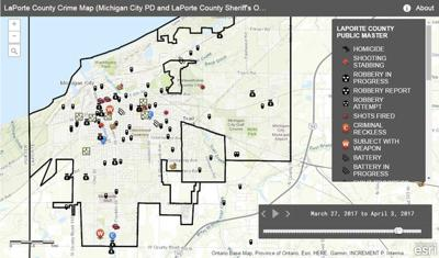 Michigan And Indiana Map.Michigan City Crime Map News Thenewsdispatch Com