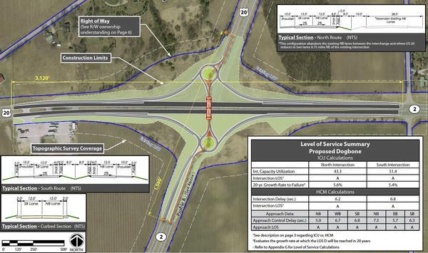 Intersection Overhaul Planned For US Ind - 4 lane highway map of us