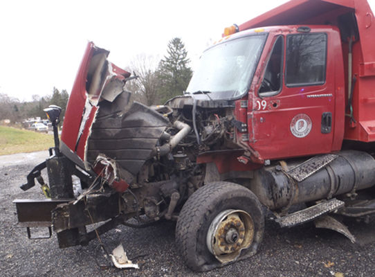Trucks collide, closing U.S. 20