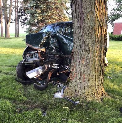 Man killed when truck slams into tree