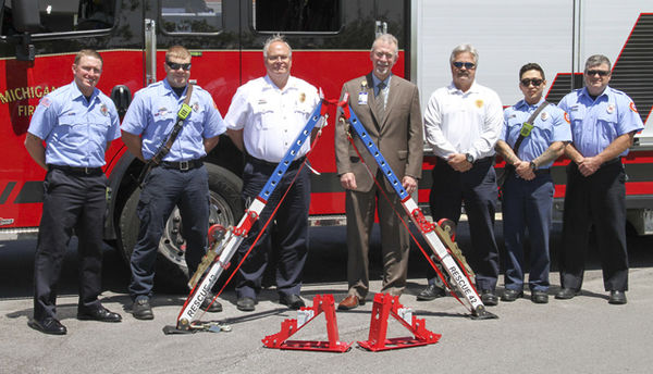 FIRST RESPONDERS GET 'LIFT' FROM HOSPITAL