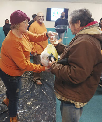 Feeding the Multitudes with Christ - and turkey