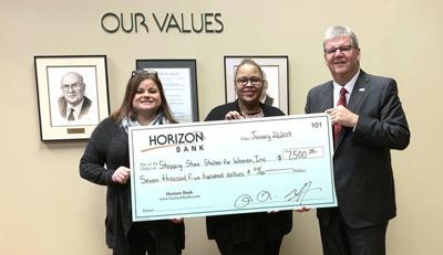 Horizon Bank donates to Stepping Stone Shelter for Women