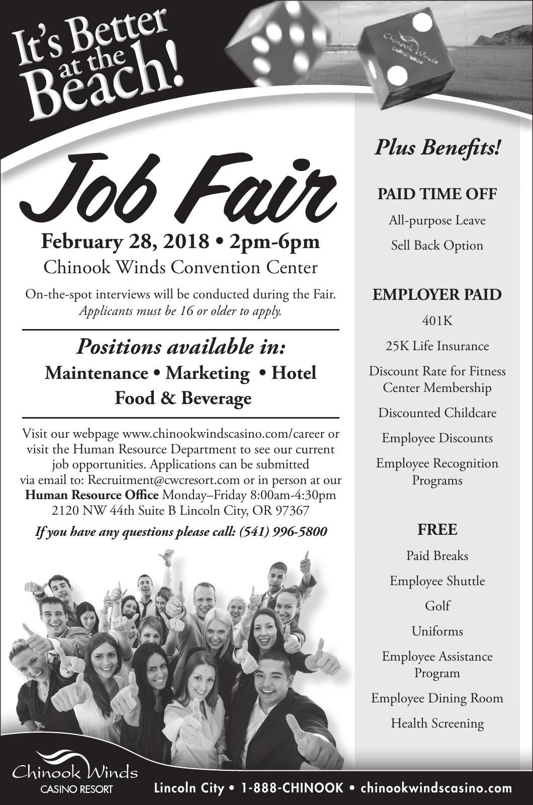 Chinook Winds Job Fair