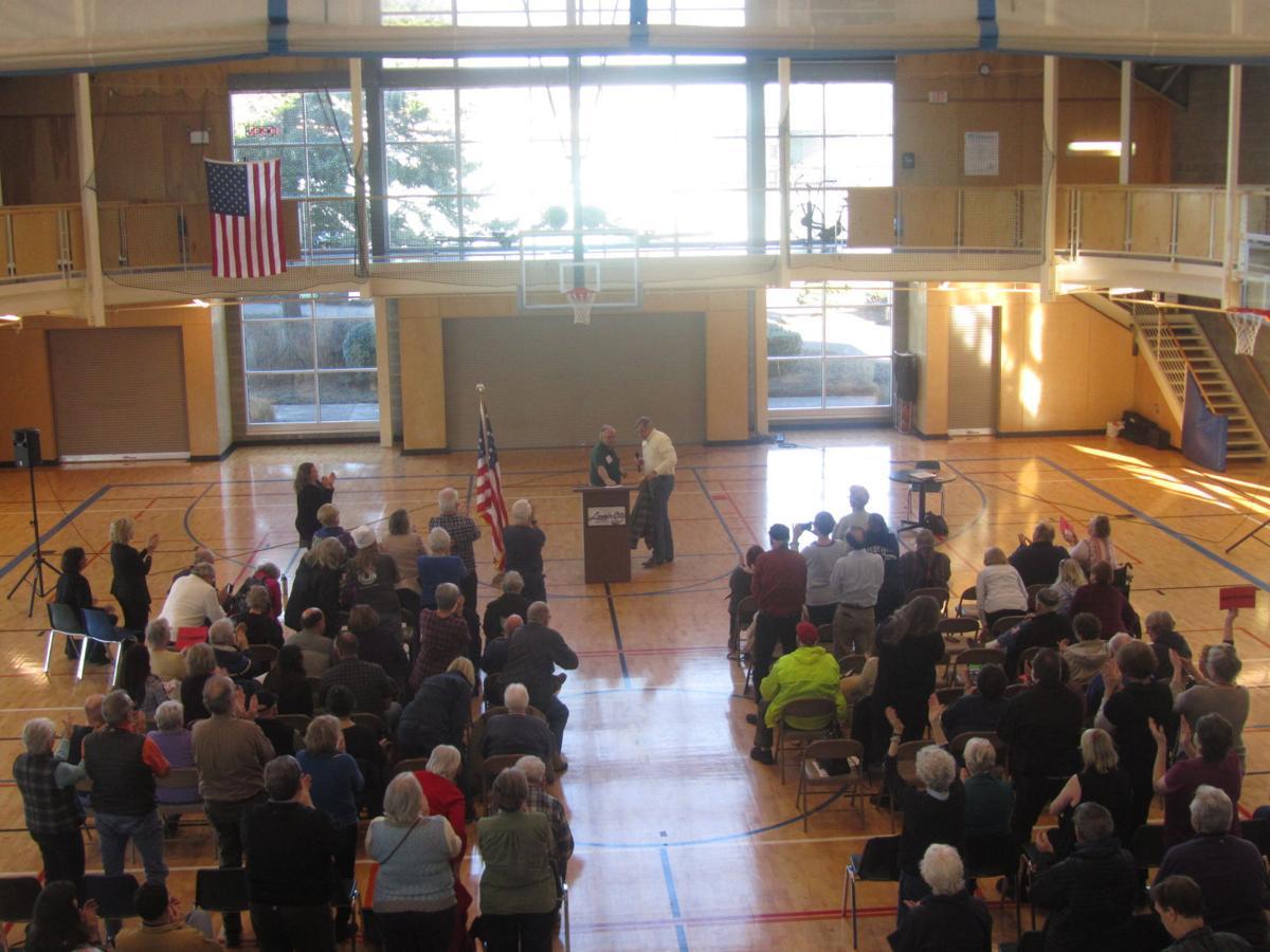 Photos Town Hall Sen Merkley Takes Questions Talks