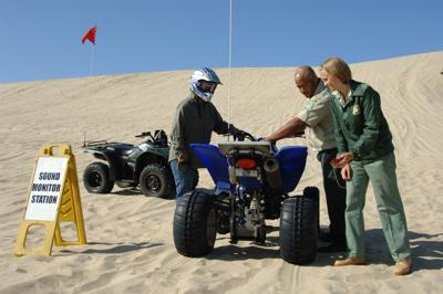 Local forestry test ATV for noise regulations