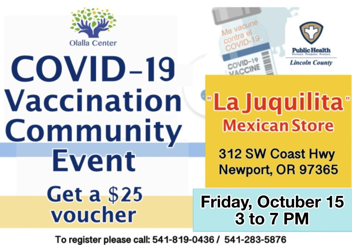 COVID-19: Vaccination and Testing Event Friday at La Juquilita