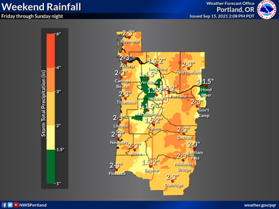 Significant rainfall expected