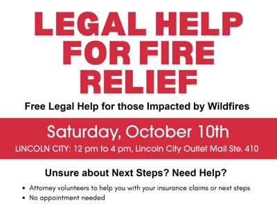 Sat 10/10 Fire Relief events flyer