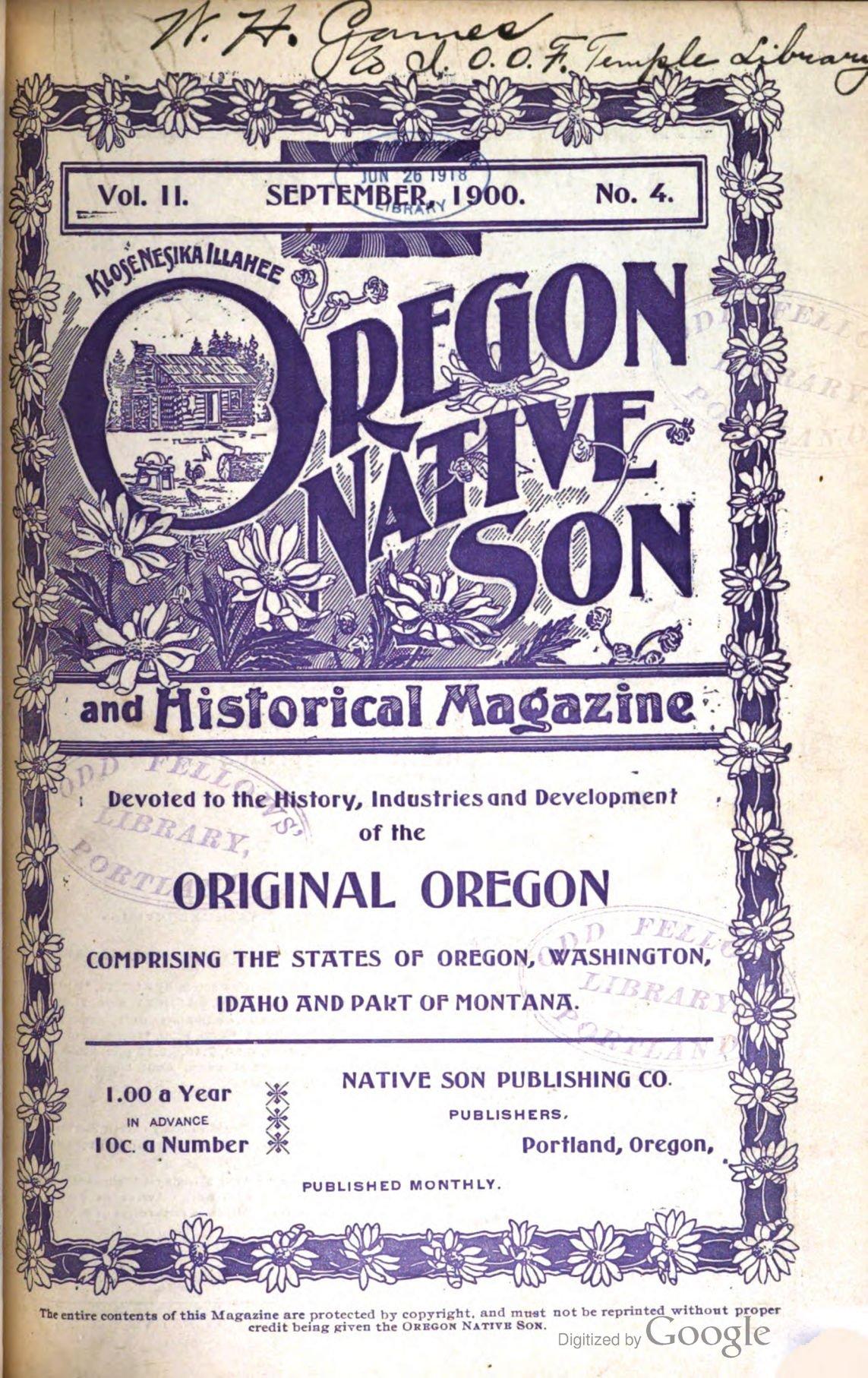 The Oregon Native Son