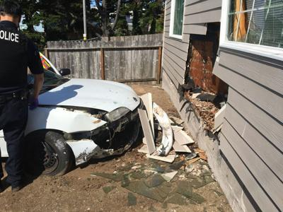 Driver Injured After Crashing Vehicle Into House