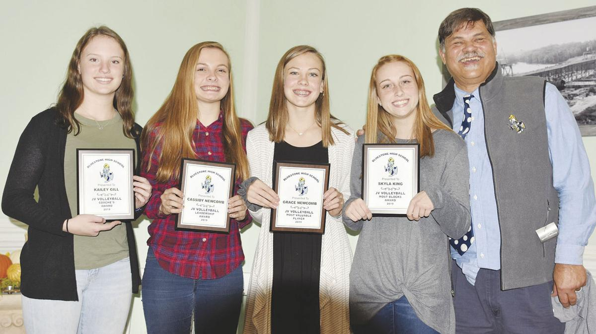 Bluestone volleyball players honored at banquet