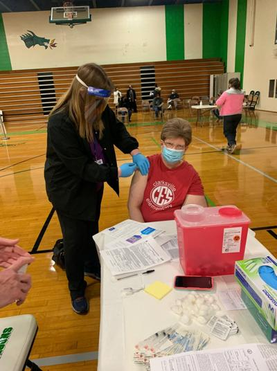 Mecklenburg Educators receive first dose of COVID-19 vaccine