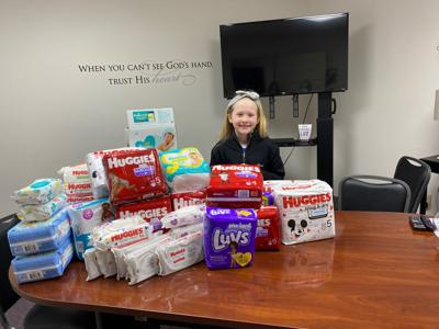 Freeman donates supplies to help young mothers