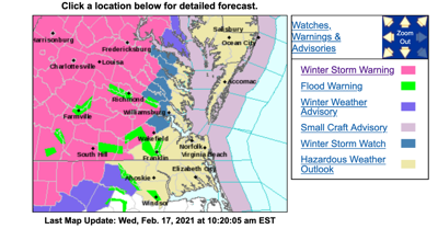 Winter Weather Advisory through Friday morning; nearly an inch of ice expected