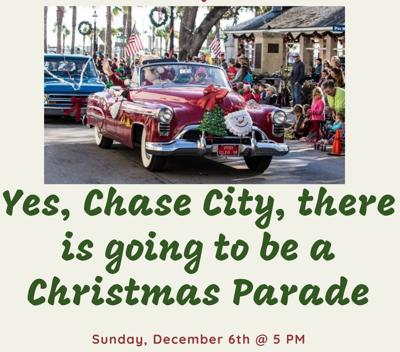 Chase City Christmas parade route for 2020