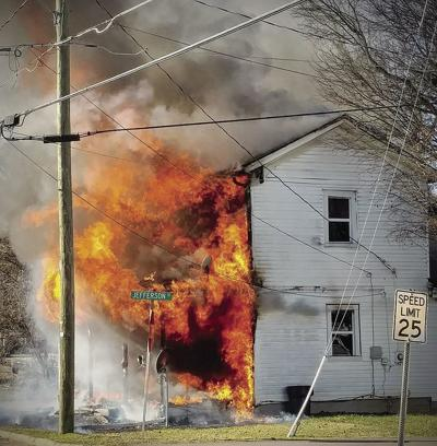 Fire destroys residence, no injuries reported