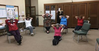 Teachers' Group Exercises Away Stress