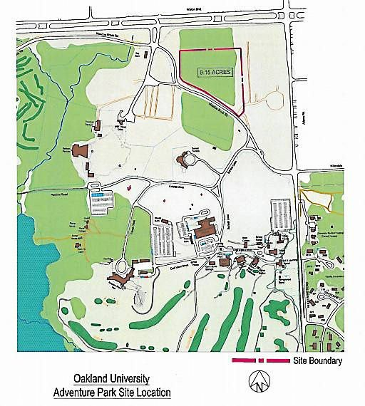Oakland University Campus Map >> Oakland University Trustees Approve High Ropes Course On Campus