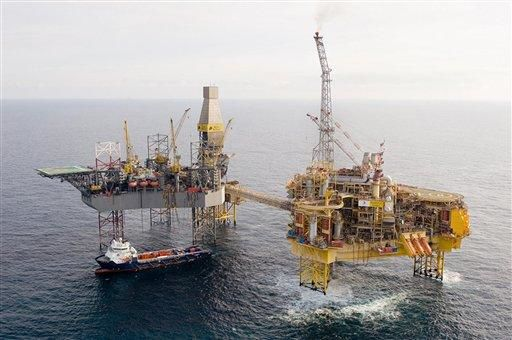 Flare burns out at Total's North Sea platform