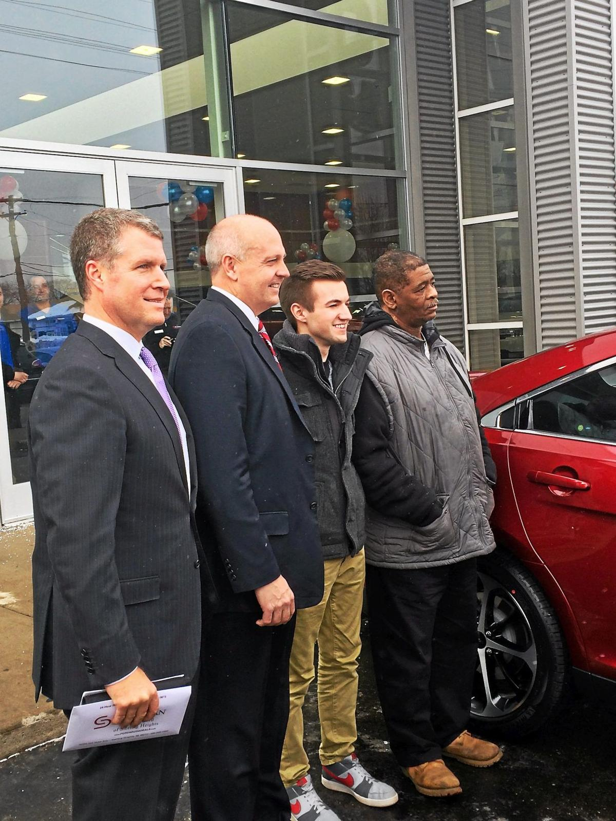 Sterling Heights dealership donates car to man who walked from Detroit to Rochester