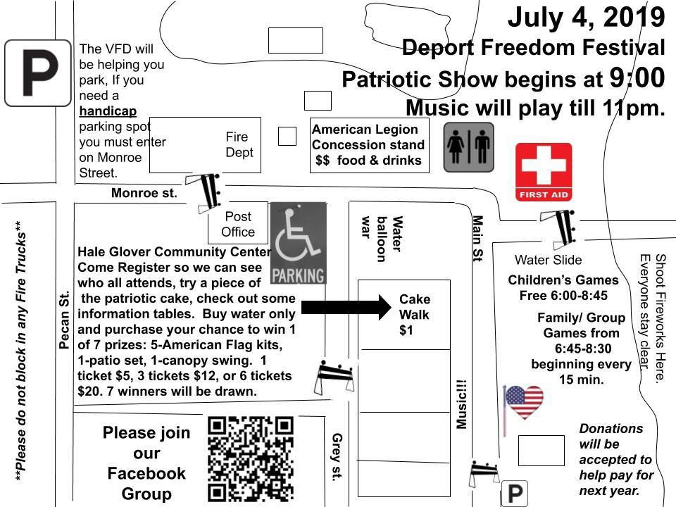 Freedom Festival Map
