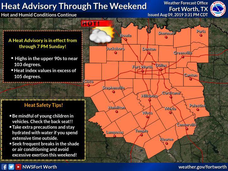 Weekend heat advisory