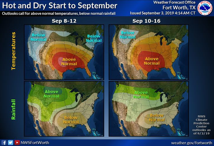 Forecast for Tuesday, Sept  3: A week of sunny, hot and dry
