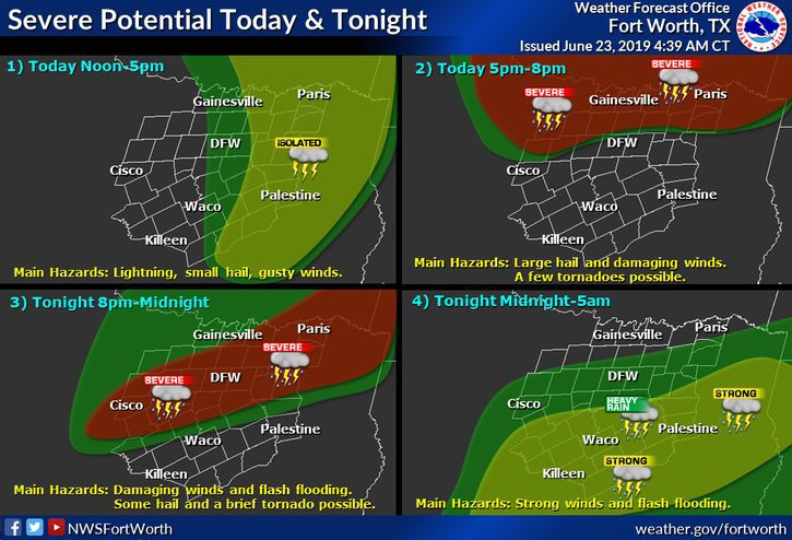 Forecast for Sunday, June 23: Chance for strong storms returns this